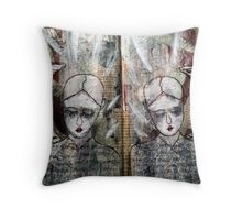 Mirrored Angels Throw Pillow