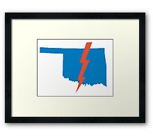 Thunder Up Oklahoma Framed Print