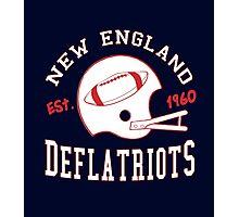 Deflate Gate - Vintage New England Deflatriots Est 1960 Photographic Print