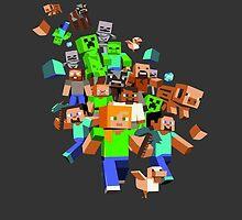 Minecraft Characters by janeemanoo