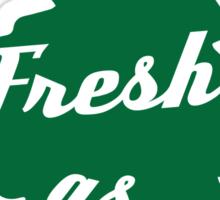 Fresh as Fuck Tree Car Air Freshener (Green) Sticker