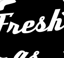 Fresh as Fuck Tree Car Air Freshener (Black) Sticker