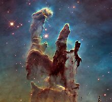 Pillars of Creation - Star Gazing - Eagle Nebula by hydraulicks