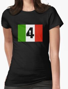 Italy Word Cup Womens Fitted T-Shirt