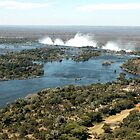 Victoria Falls from the Air by Marylou Badeaux