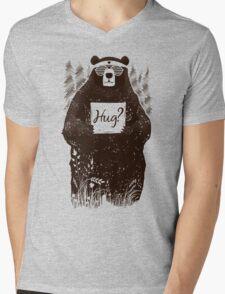 Free Bear Hugs Mens V-Neck T-Shirt