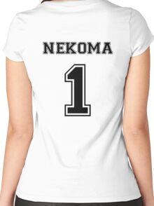 Haikyuu!! - Nekoma Kuroo Tetsurou Women's Fitted Scoop T-Shirt