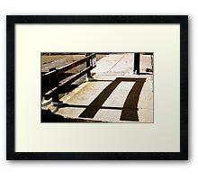 Shadow Tuning Framed Print