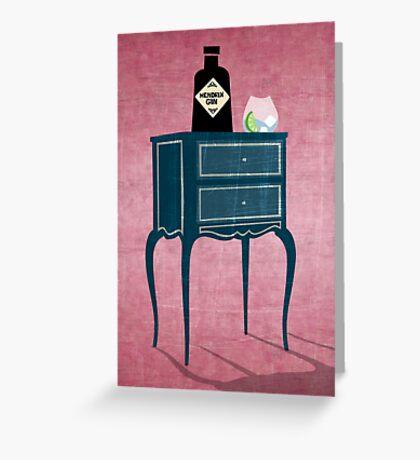 LOVE GIN Greeting Card