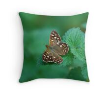 Speckled Wood  Throw Pillow