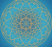 Mandala in Teal and Blue by Lena127