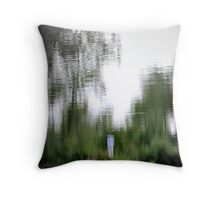 Water Color Eye View Throw Pillow