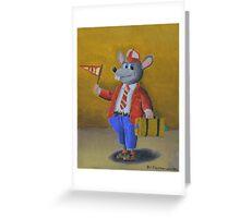 College Rat Greeting Card