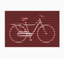 Red Bike Lines Kids Clothes