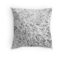 MODERN tangled, grey and white ART, hand DRAWN bit by bit digi Throw Pillow