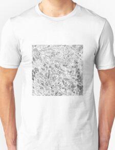 MODERN tangled, grey and white ART, hand DRAWN bit by bit digi T-Shirt