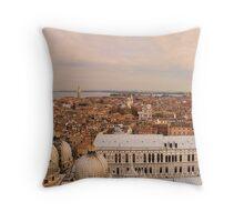 Venice panorama Throw Pillow