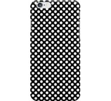 Cool big white polka dots in black. Graphic pattern. iPhone Case/Skin