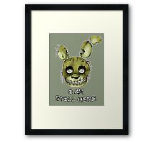 FIVE NIGHTS AT FREDDY'S 3- SPRINGTRAP Framed Print