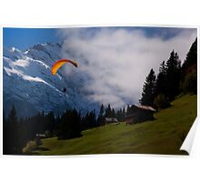 Paraglider - Murren Poster