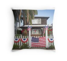 Fourth of July on the Island Throw Pillow