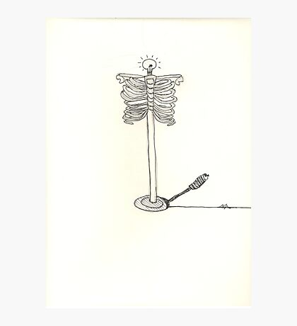 skeleton sketch surreal light Photographic Print