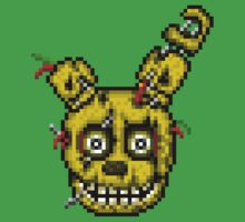 Five Nights at Freddy's 3 - Pixel art - SpringTrap Kids Tee