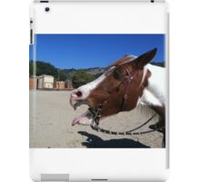 Horse being silly iPad Case/Skin