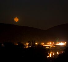 Moonrise over the Water Gap by sfield