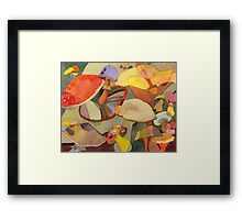 Colorful Mushrooms Framed Print