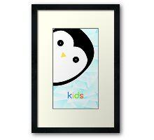 Baby pinguin ice vector Framed Print