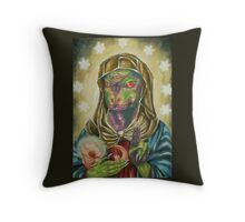 Blessed Reptilian Virgin and Child Throw Pillow