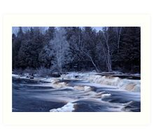 The last of the winter rivers Art Print