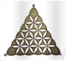 Flower Of Llife, Sacred Geometry, Crop Circle, Triangle Poster