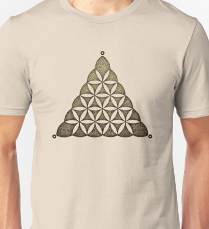 Flower Of Llife, Sacred Geometry, Crop Circle, Triangle Unisex T-Shirt