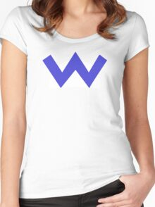 Wario W Women's Fitted Scoop T-Shirt