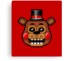 Five Nights at Freddy's 2 - Pixel art - Toy Freddy Canvas Print