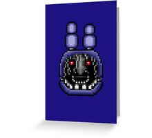 Five Nights at Freddy's 2 - Pixel art - Faceless Bonnie Greeting Card