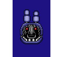 Five Nights at Freddy's 2 - Pixel art - Faceless Bonnie Photographic Print