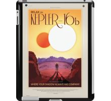 Relax on Kepler-16b - Where your shadow always has company iPad Case/Skin