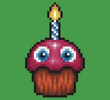 Five Nights at Freddy's 2 - Pixel art - Cupcake (no plate) One Piece - Short Sleeve