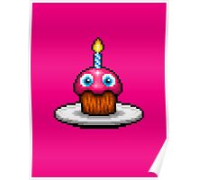Five Nights at Freddy's 2 - Pixel art - Cupcake Poster