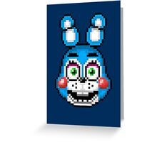 Five Nights at Freddy's 2 - Pixel art - Toy Bonnie Greeting Card