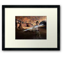 Padawan Training Tatooine Framed Print