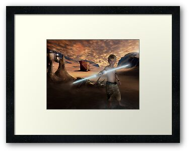 Padawan Training Tatooine by Cliff Vestergaard