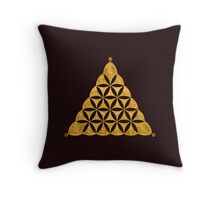 Flower Of Life, Sacred Geometry, Crop Circle, Triangle Throw Pillow