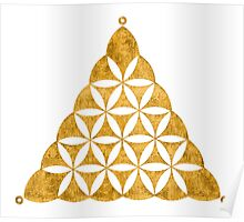 Flower Of Life, Sacred Geometry, Crop Circle, Triangle Poster
