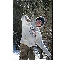 Snowball Fight Photographic Print