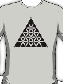 Flower Of Llife, Sacred Geometry, Crop Circle, Triangle T-Shirt