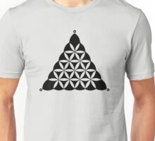 Flower Of Life, Sacred Geometry, Crop Circle, Triangle Unisex T-Shirt